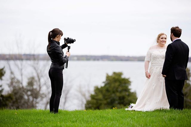 A behind the scenes shot from the first #wedding film of the season 😃❤️🥰 Thank you Patrina from @flaircakesphotography You are always a wonderful team to work with 😀📸 #married #ido #videography #film #video #cameragirl #fuji #zhiyuncrane #couple #love #forever #spring2019 #bride #dress #ygk #like #selfie