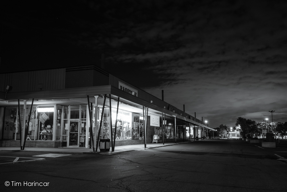 Suburbs at 3am (BW)  © 2017 Tim Harincar (From the first session bike commute)