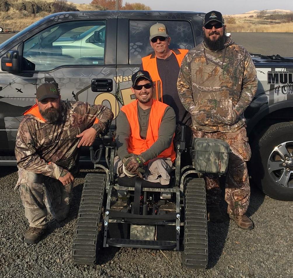 The Miller Ranch Hunt - from Left: Jason Brown, Sam Shockley, Barney McClanahan, and Daniel Fye