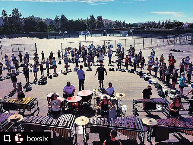 Let's go! #RepostPlus @boxsix - - - - - - Nothing like the first time you put things together 😎 . . . #marchingband #drumline #marching #bandcamp