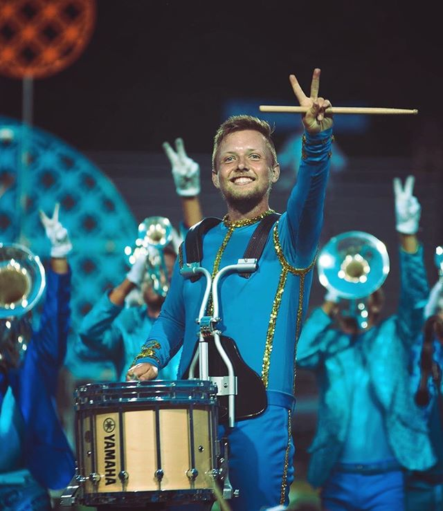 Good luck to our alumni/staff member @zach.da.swanky this week at DCI finals!!! Let's go Bloooooooooo 🔥🔥 . . . #chinohillsdrumline #bluecoats #drumline #dci #drumcorps #dcifinals
