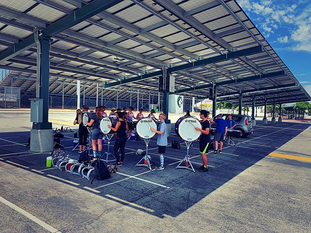 Last day in the oven 🙄 . . . #chinohillsdrumline #bandcamp #boxsix #drumline