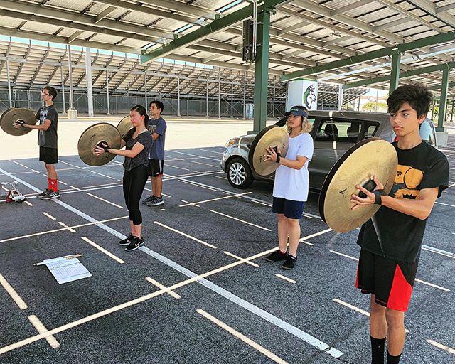 Meet the 2019/20 cymbal line! You can also follow them @chinohillscymbals 🔥 . . . #chinohillsdrumline #zildjian #drumline #cymballine #wgipercussion #marchingband #boxsix