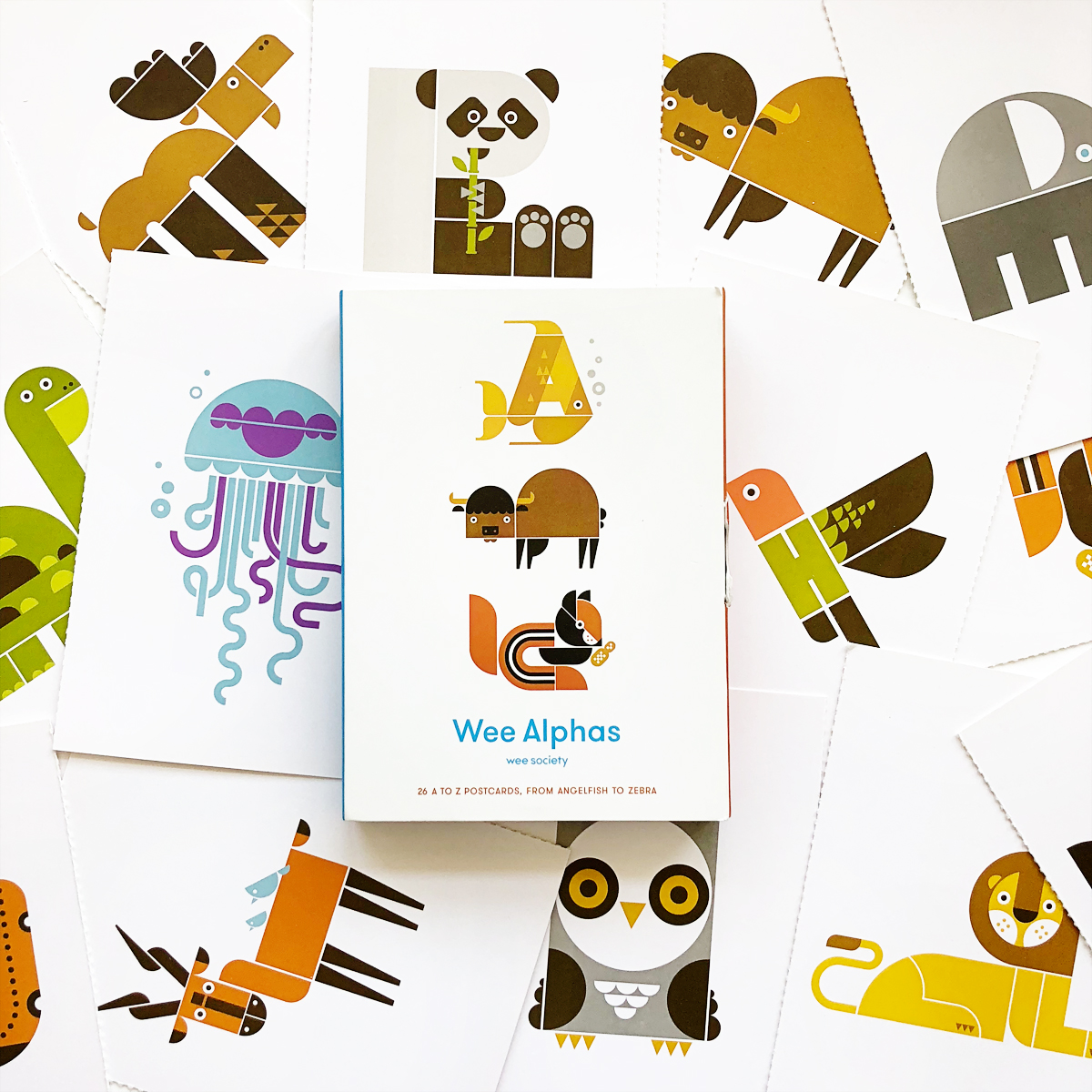 Wee Alphas: 26 A to Z Postcards, from Angelfish to Zebra | Avery and Augustine