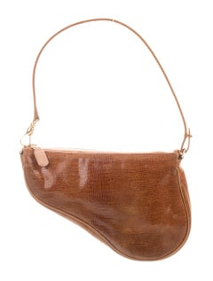 This Dior saddle is so dainty, and I love the mock croc!