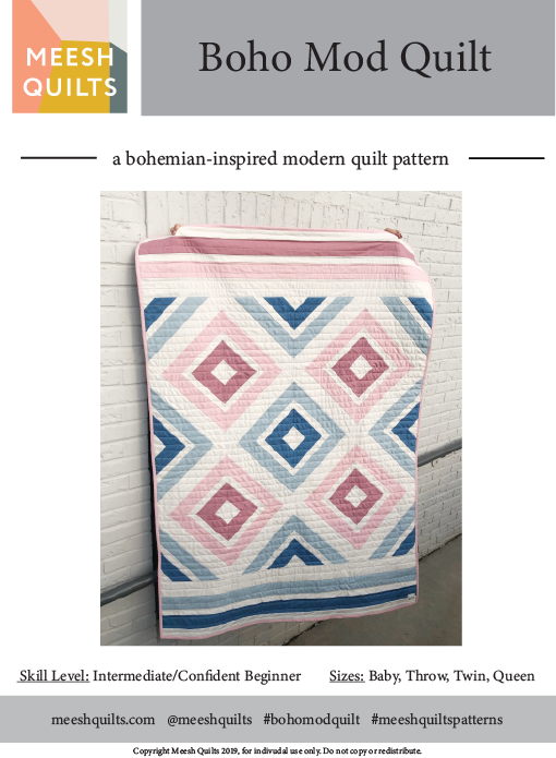 There are no corrections to the Boho Mod Quilt pattern at this time. -