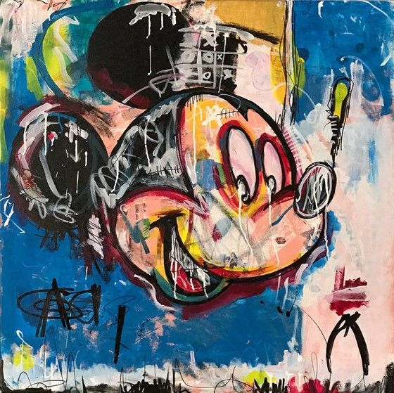 """""""Mousquiat"""" by Dillon Boy (2010s), inspired by Jean-Michel Basquiat"""