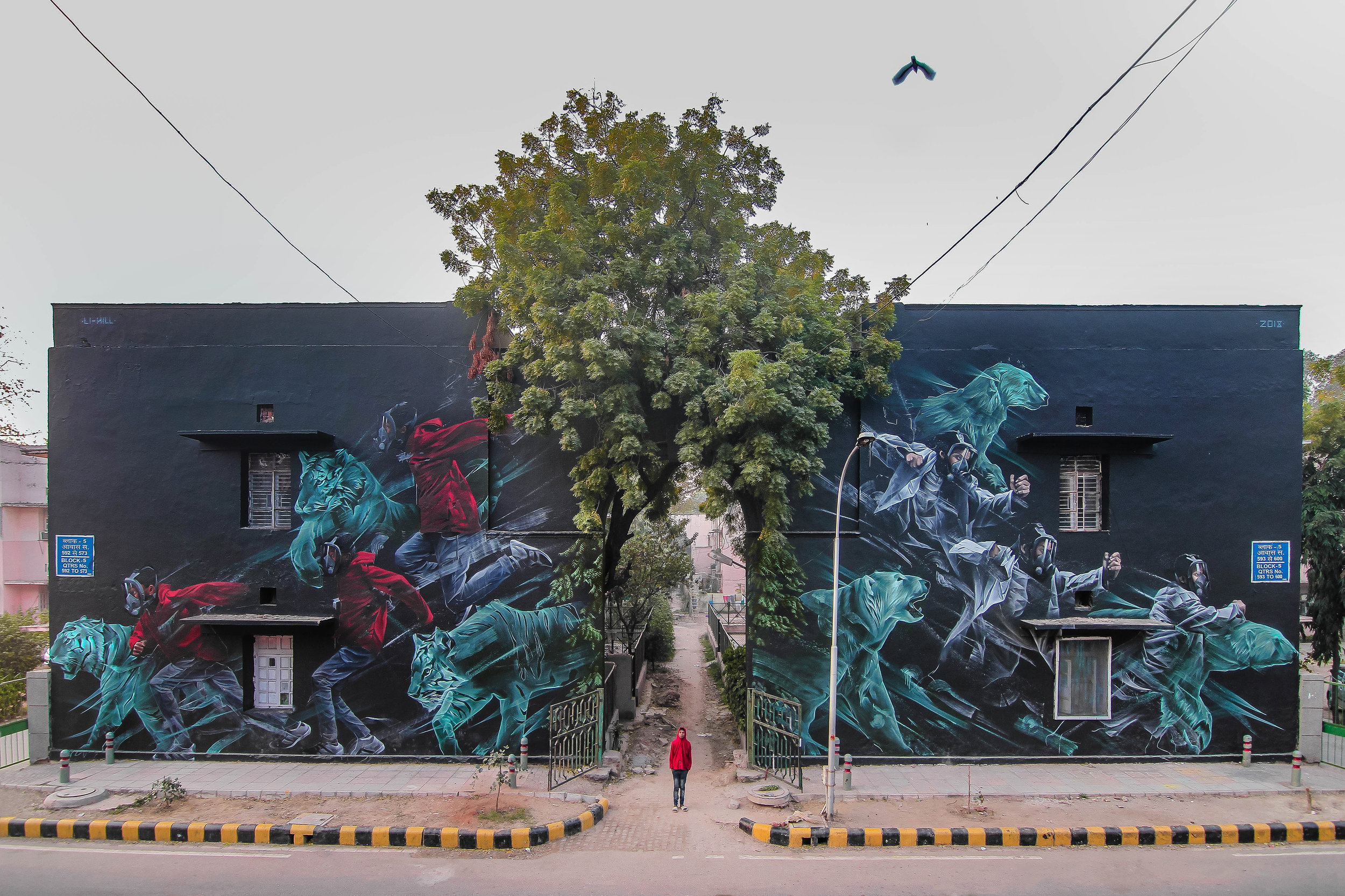 Nature's Arch and Visions of Altered Landscapes | Aerosol + Latex on Concrete, New Delhi, India, 2018.jpg