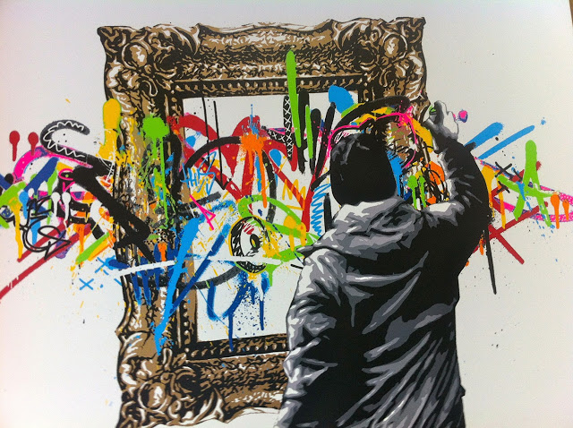 "Martin Whatson, ""Framed,"" image from  Street Art News"