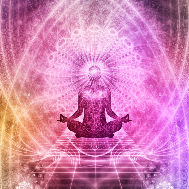 Reiki energy passes from the crown chakra and flows down the shoulders and out through the palm/hand chakras.