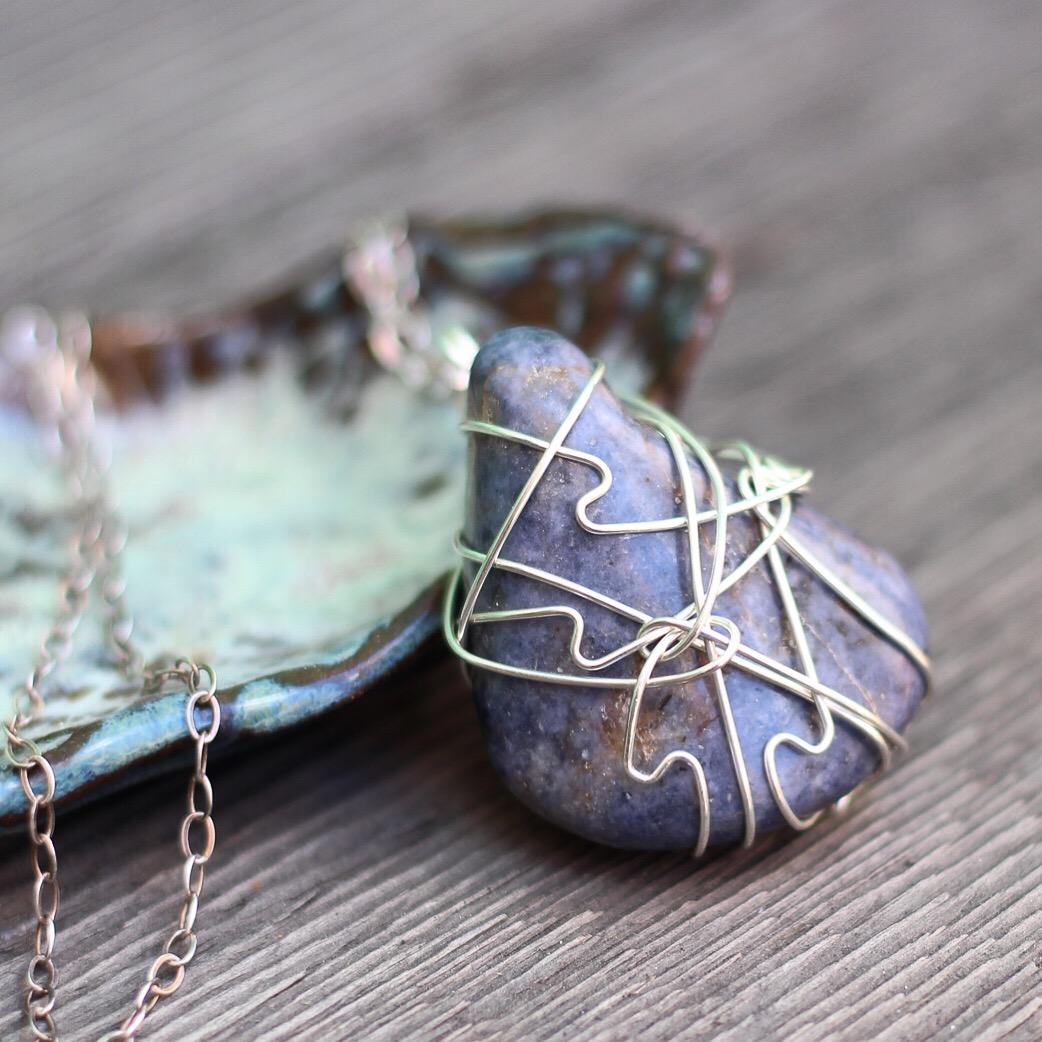 Tumbled Sapphire Pendant