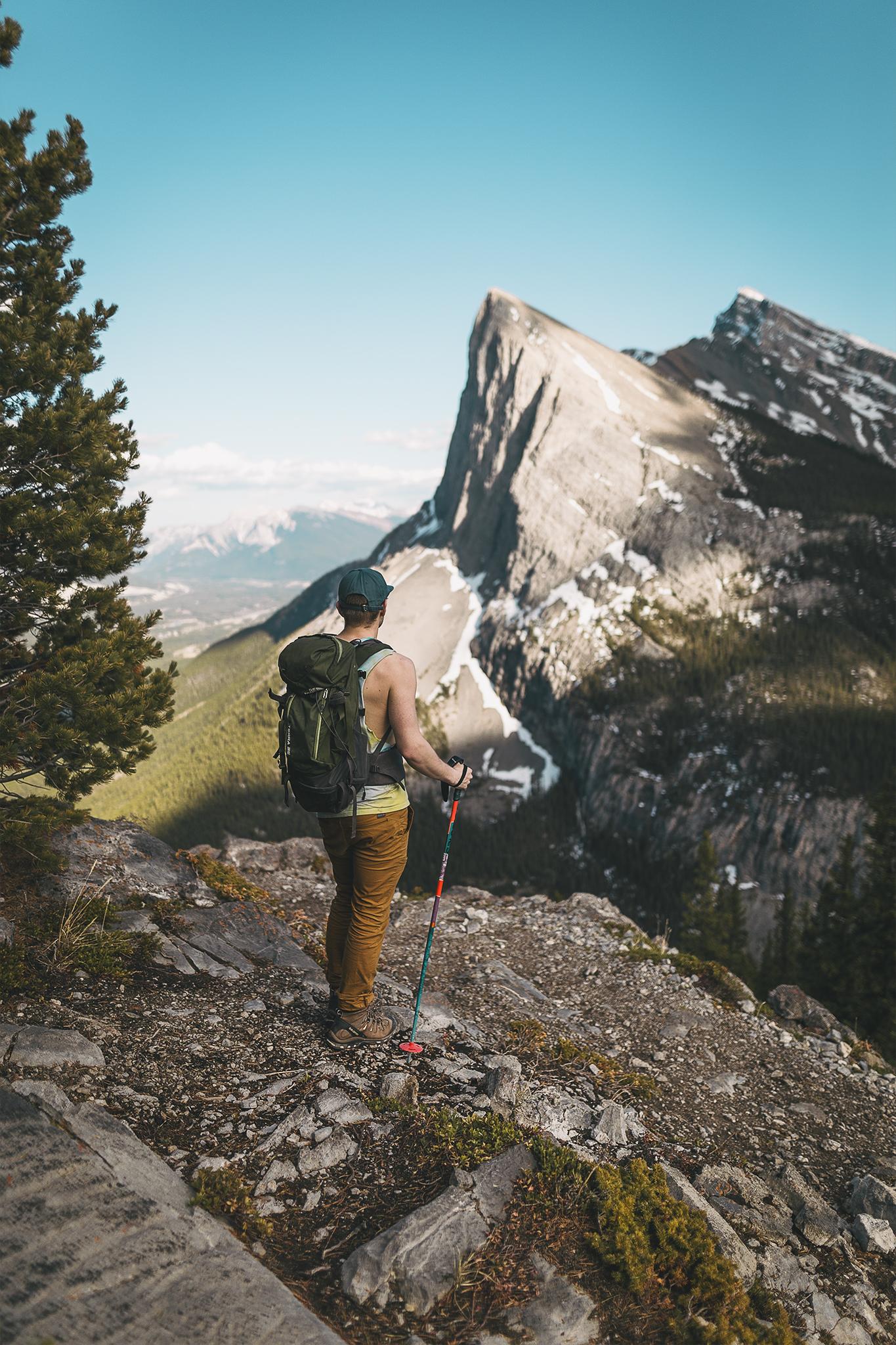 Tom enjoys the views over Ha-Ling Peak