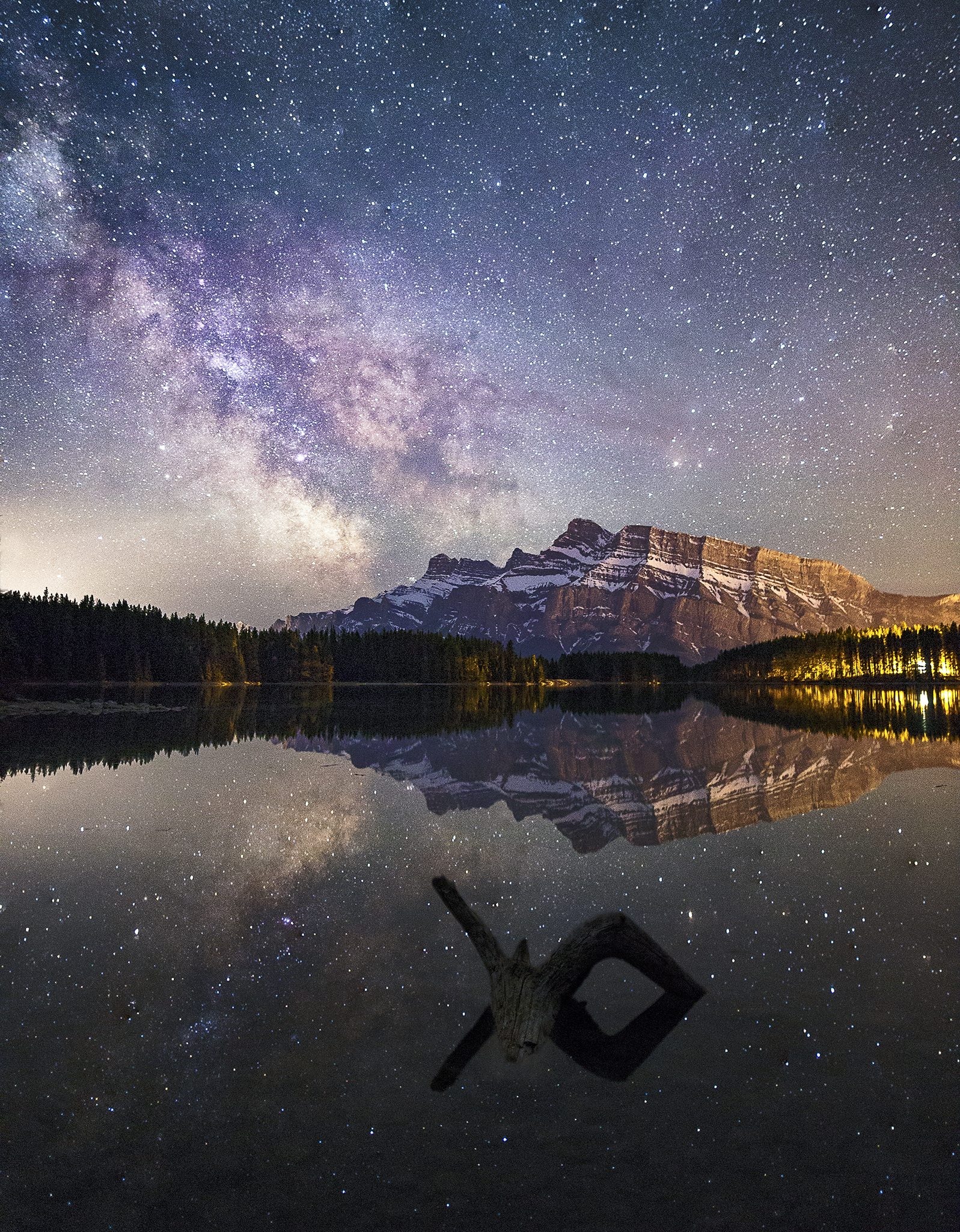 Milky Way Over Two Jack Lake