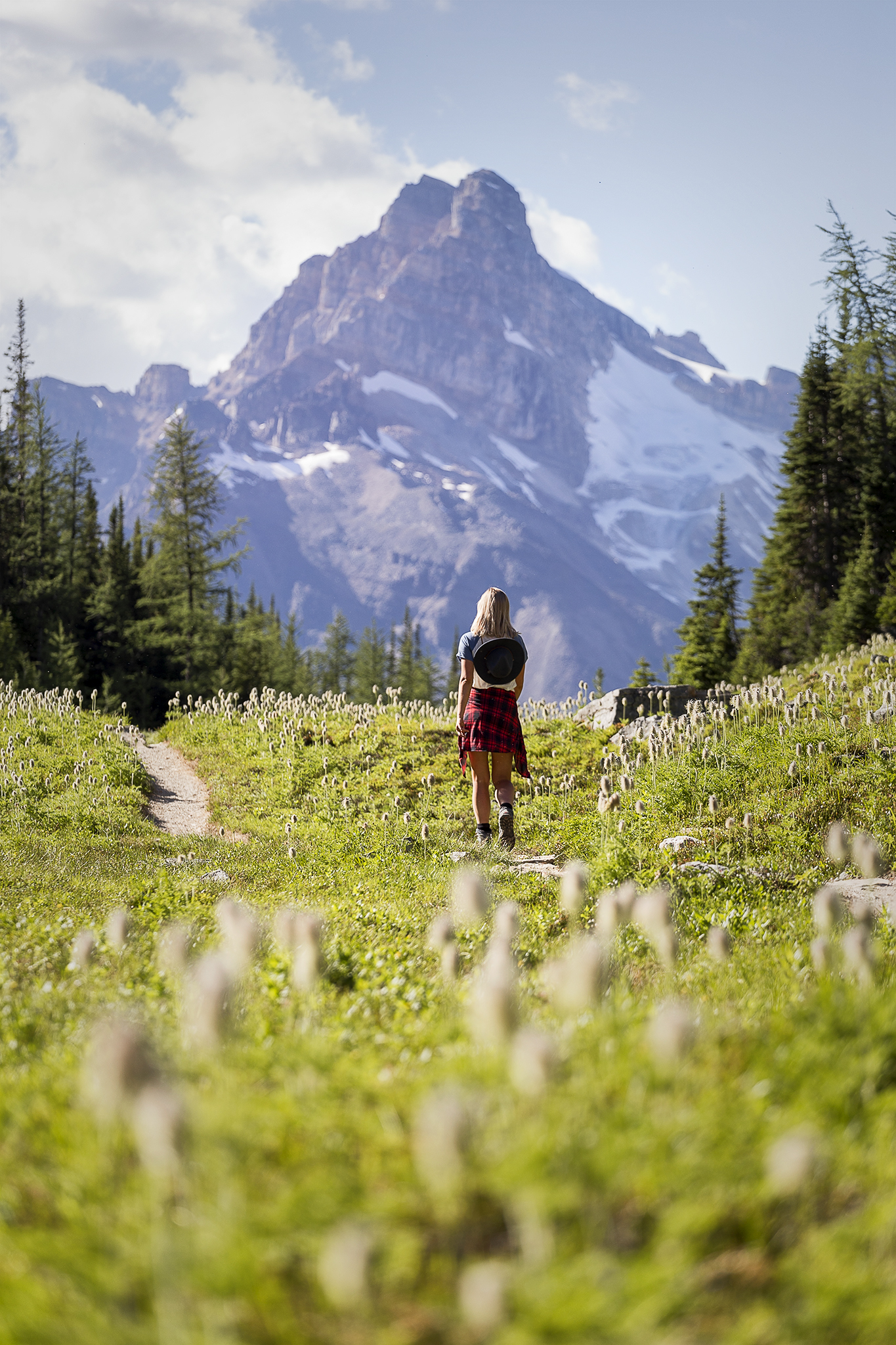 Enjoying mountain views and wild flowers at Lake O'Hara, the effort to big was worth it!