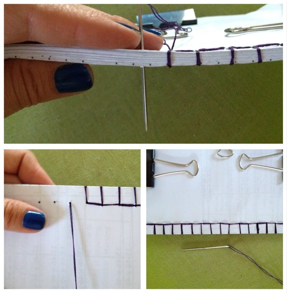 SEWING THE PAGES TOGETHER