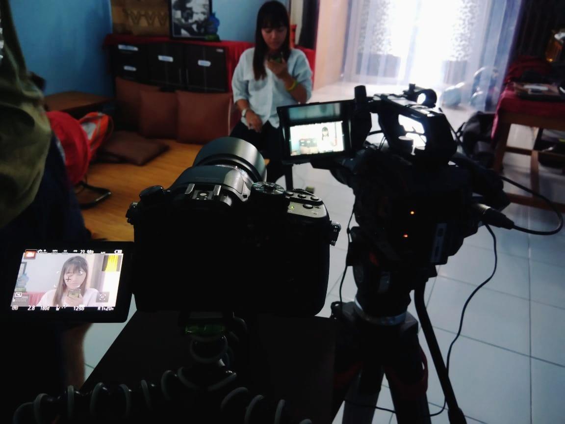 Shooting for MTV News