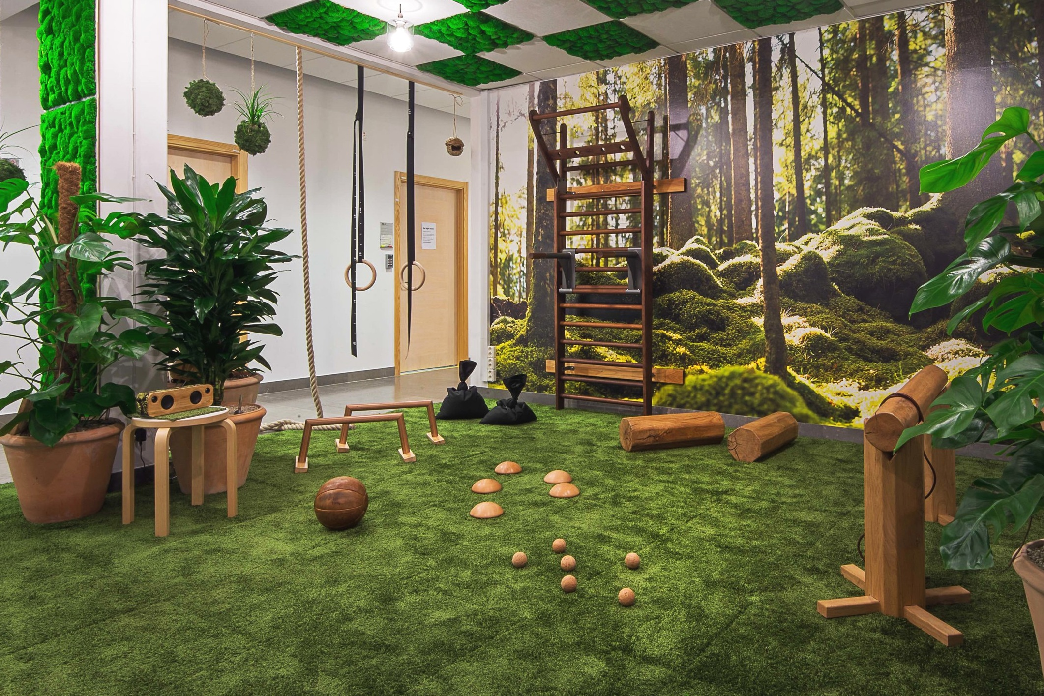 biofit karolinska institutet gym green nature office