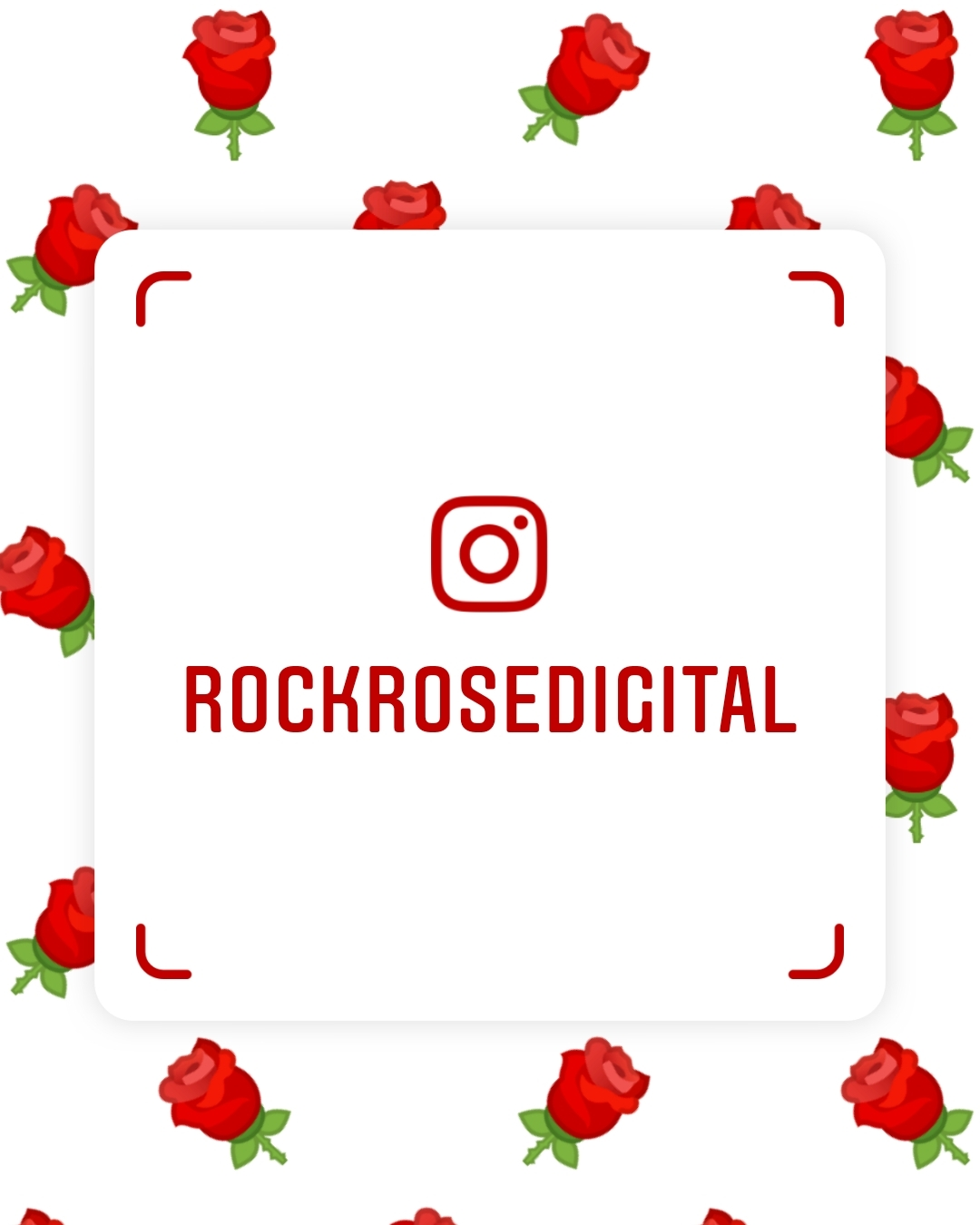 Rock Rose Digital, social media agency and consultancy based in Shrewsbury demonstrates their branded Instagram Nametag