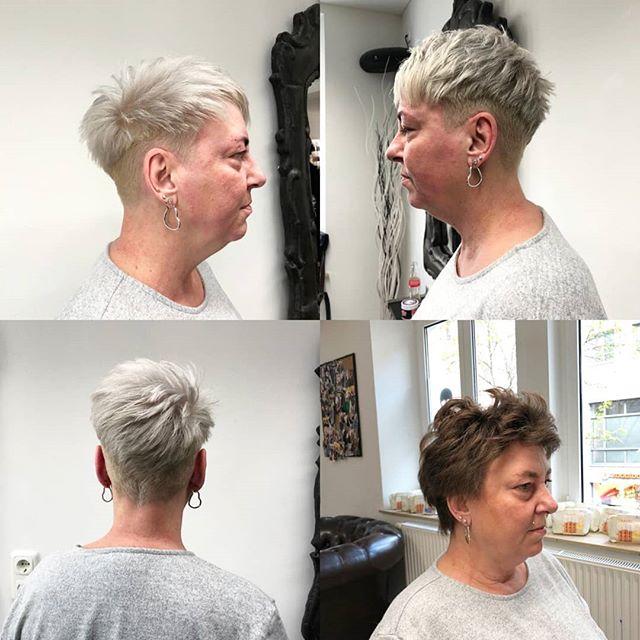 Und zum Wochenstart - eine Arbeit von unserer Yeliz 💇♀️ #undercutnbg #shadeseqgloss #shorthair #haircolor #hairdresser #haircut