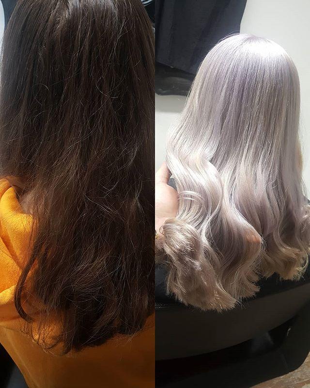 Vorher und nachher 😍❤ #schwarzkopf #schwarzkopfpro #blondhairstyle #blondehair #blondmeschwarzkopf #girls #girl #haircut #haircolor #hairdresser #styling #whitehairdontcare #photoofthedays #photography #whitehair #pictureoftheday #picoftheday #undercutnbg