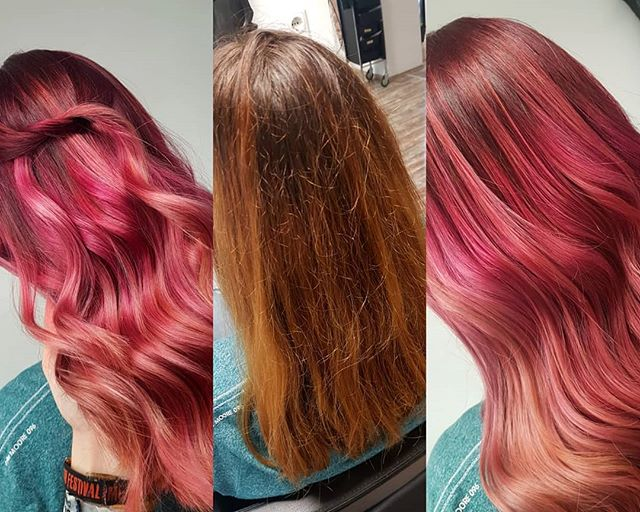 vorher - nachher 💇‍♀️❤ #schwarzkopfpro #schwarzkopf #styling #haircut #haircolor #hairdresser #redheadgirl #hairoftheday #hairlooks #photoofthedays #photography #hairartist #hairstyle #waveshair #girl #girlpower #haircolorist #hairofinstagram
