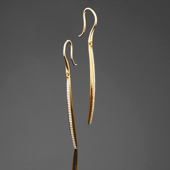 BUNDA Diamond Line Earrings $4,200