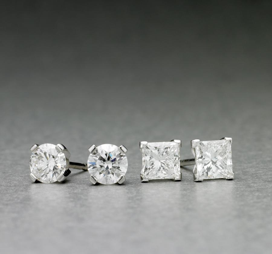 Classic Diamond Studs from $4,750