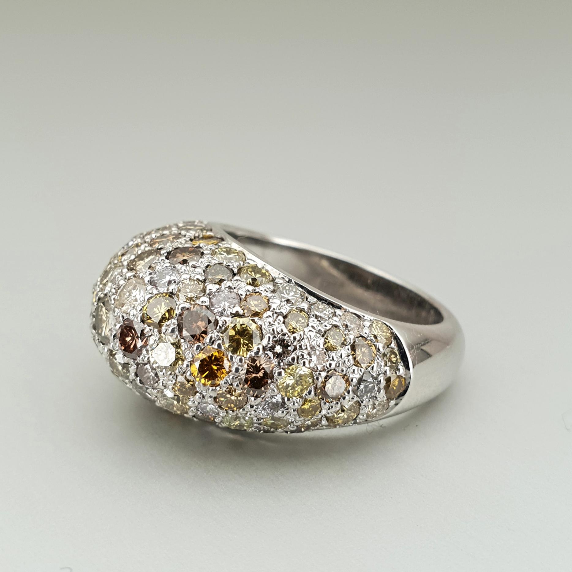 'Bundova' Diamond Ring Made in 18ct White Gold