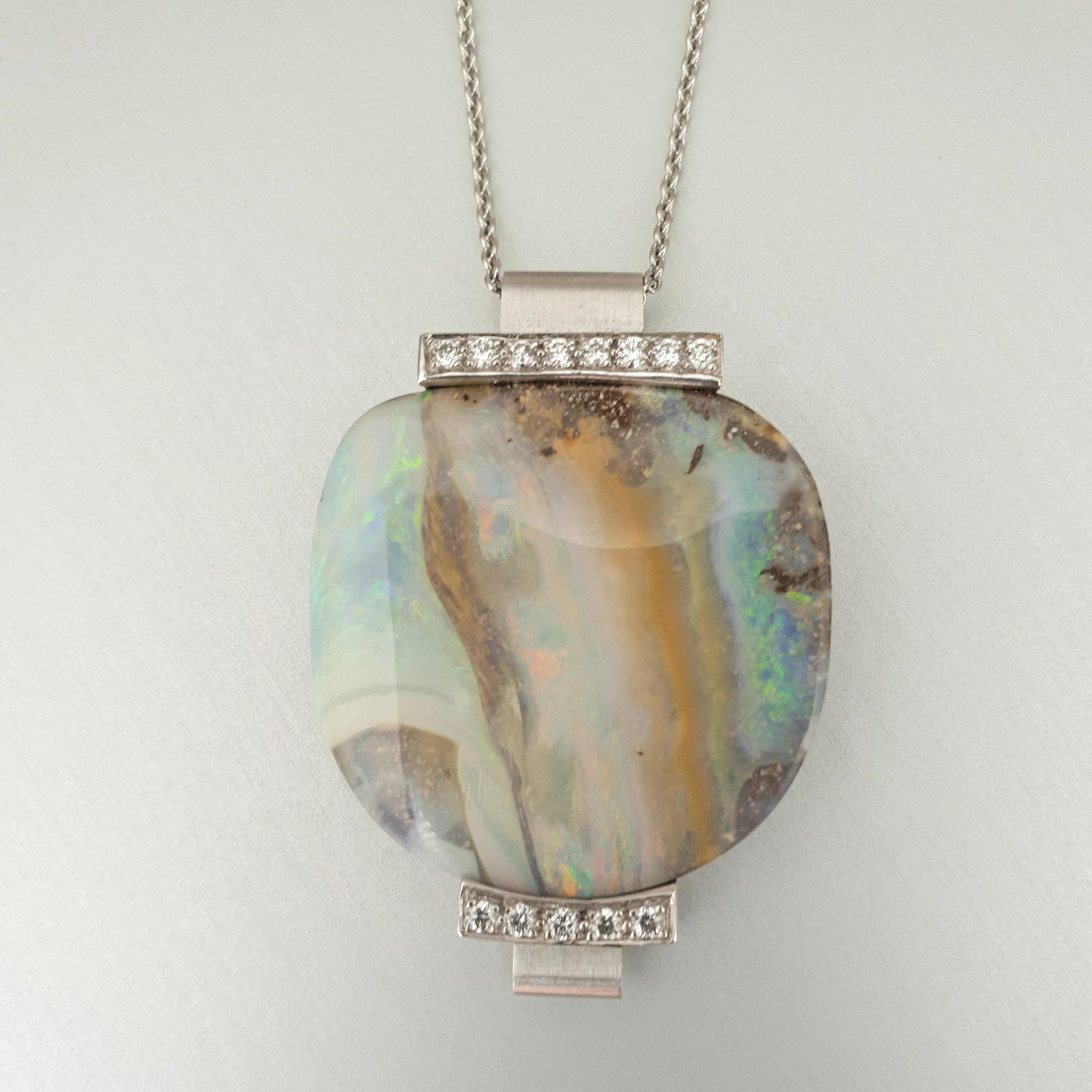 'Krest' Boulder Opal Pendant