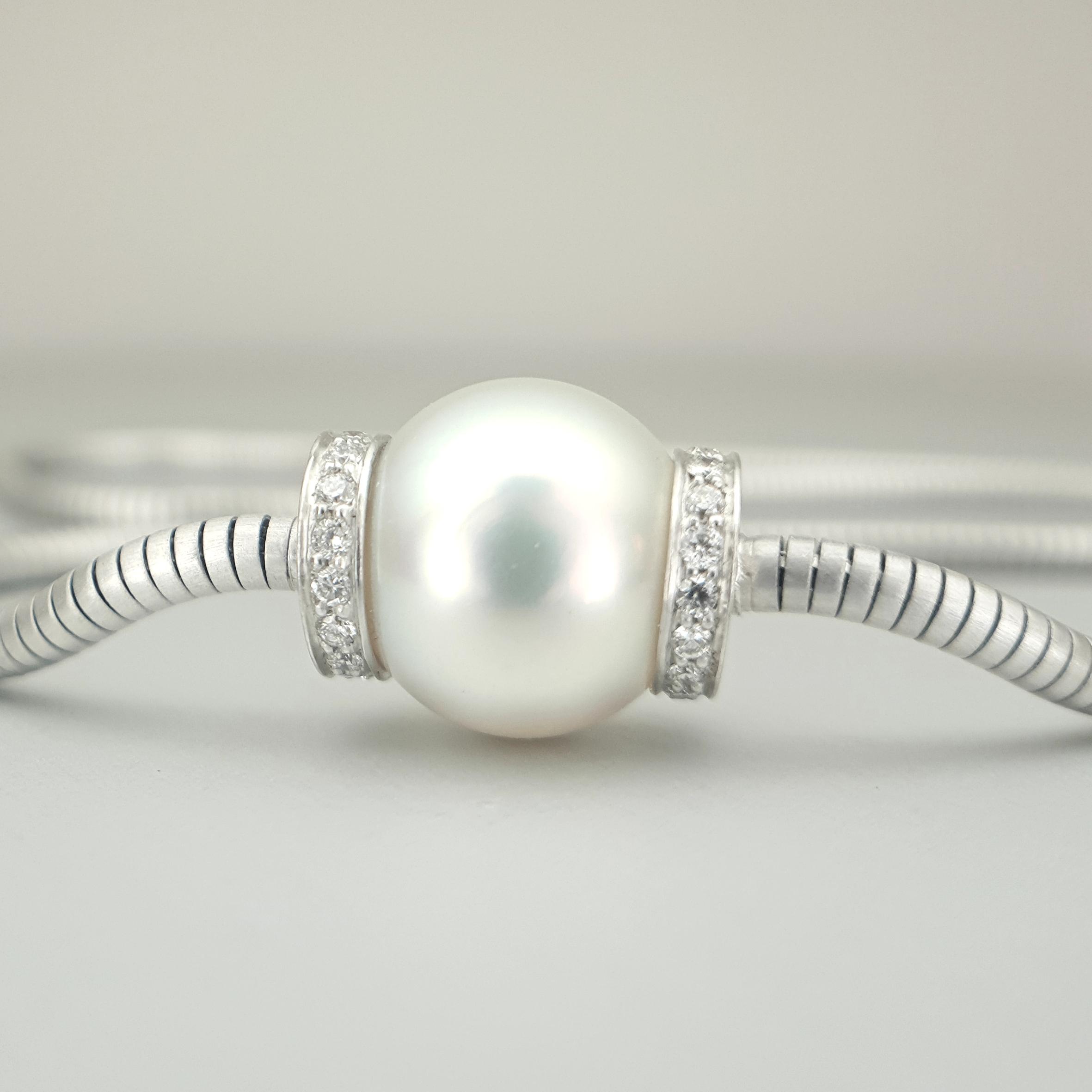 Cultured South Sea Pearl and Diamond 'Dorado' Pendant