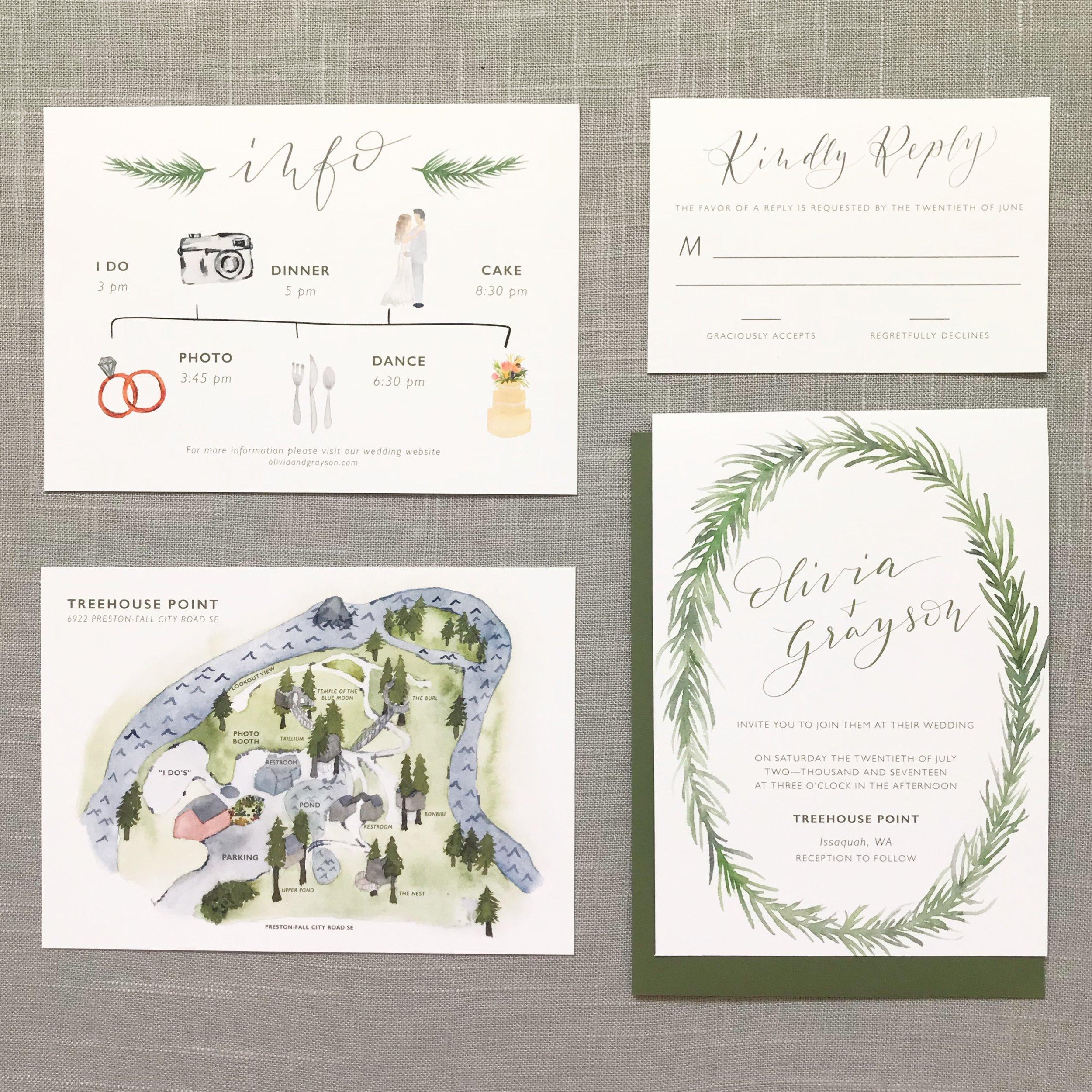 Our Vows Custom Wedding invitation