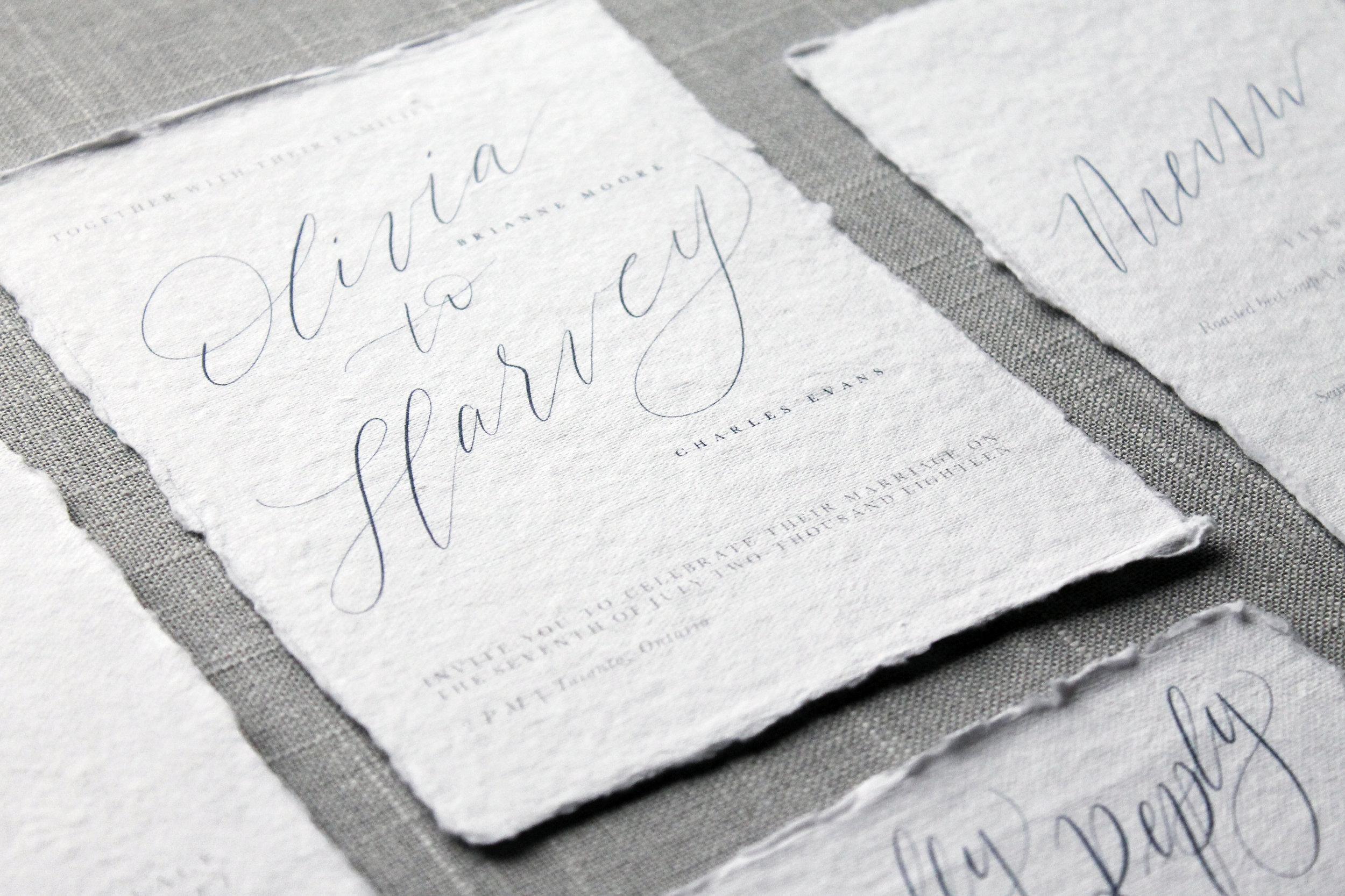 Our Vows Custom Wedding Invitation Suite
