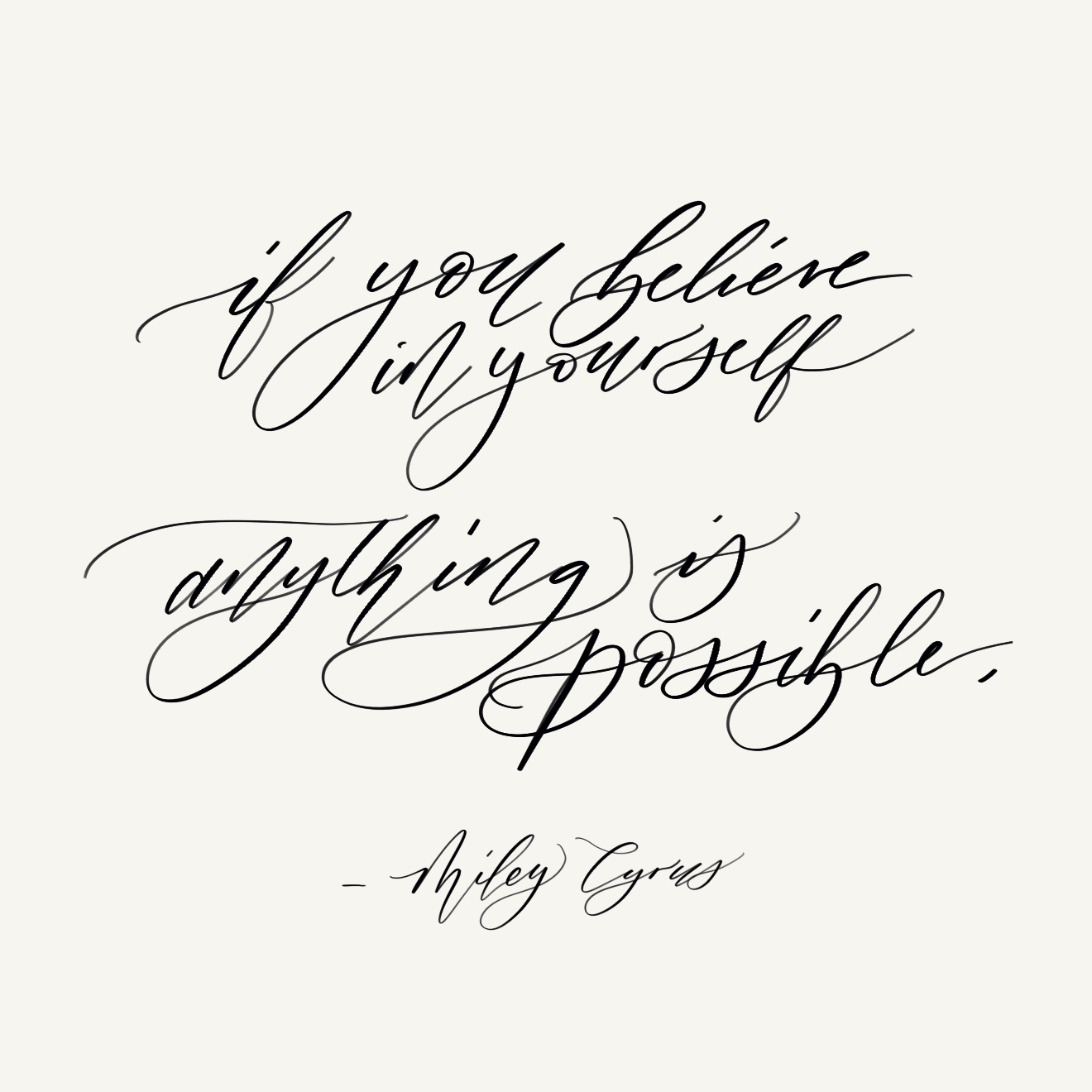 A little inspiration for your all, I did this calligraphy in my procreate app in October 2018