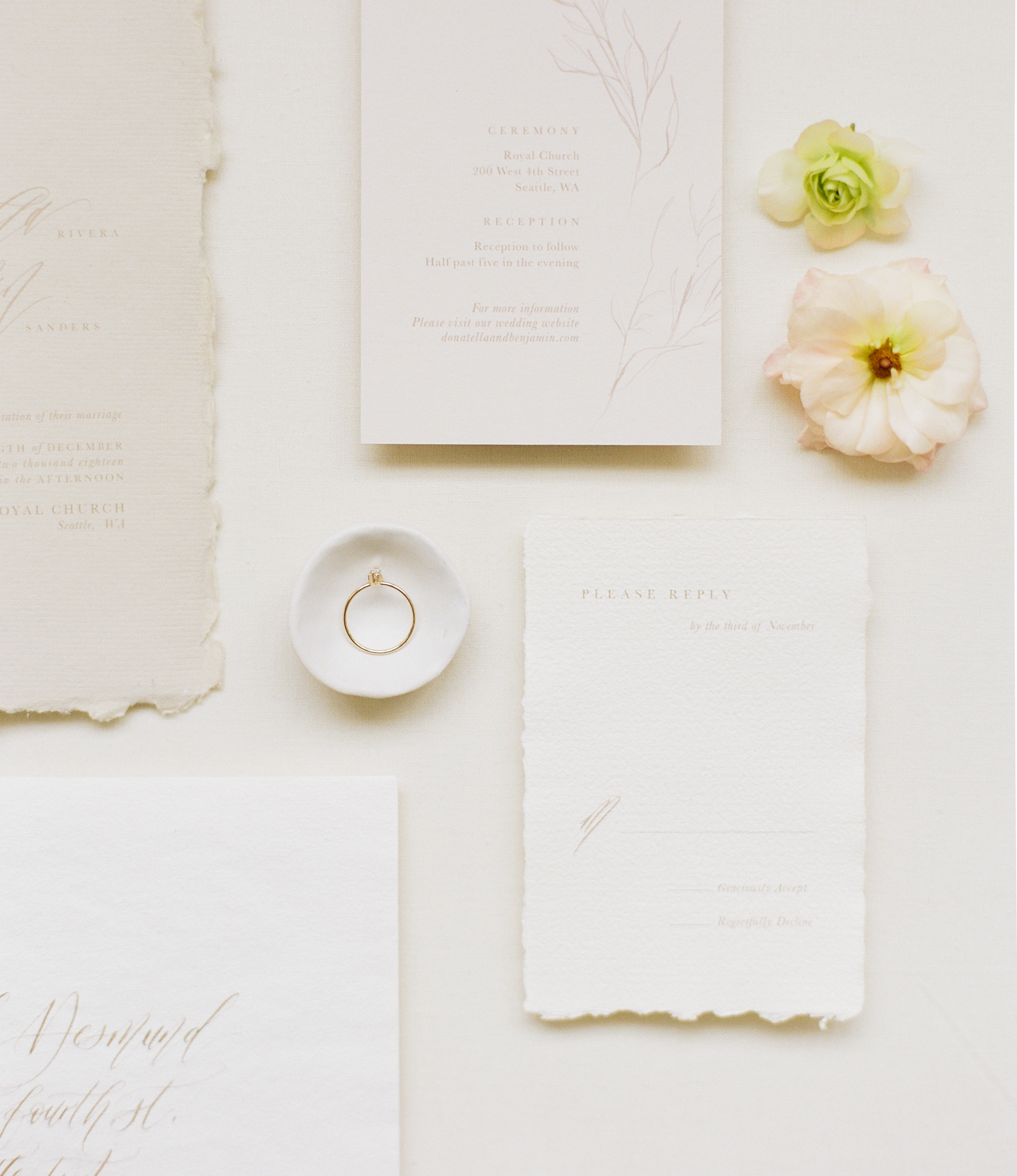 Custom Wedding Stationery by Our Vows