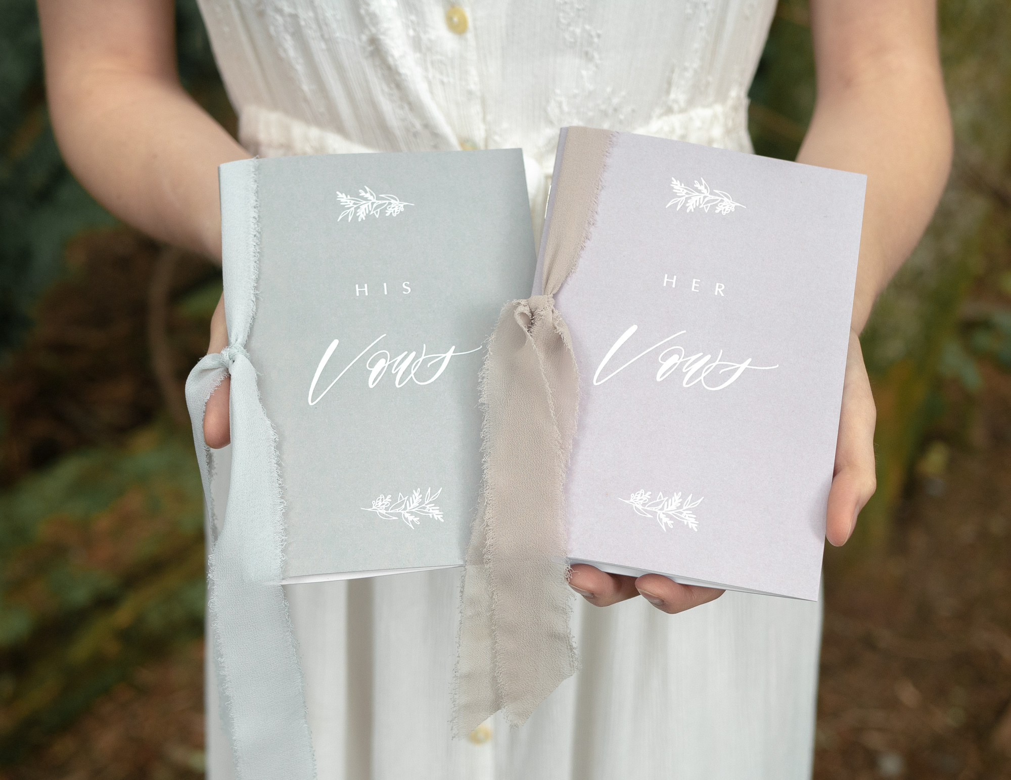 His and Her Vow Books | Custom Luxury Wedding Stationery | Our Vows