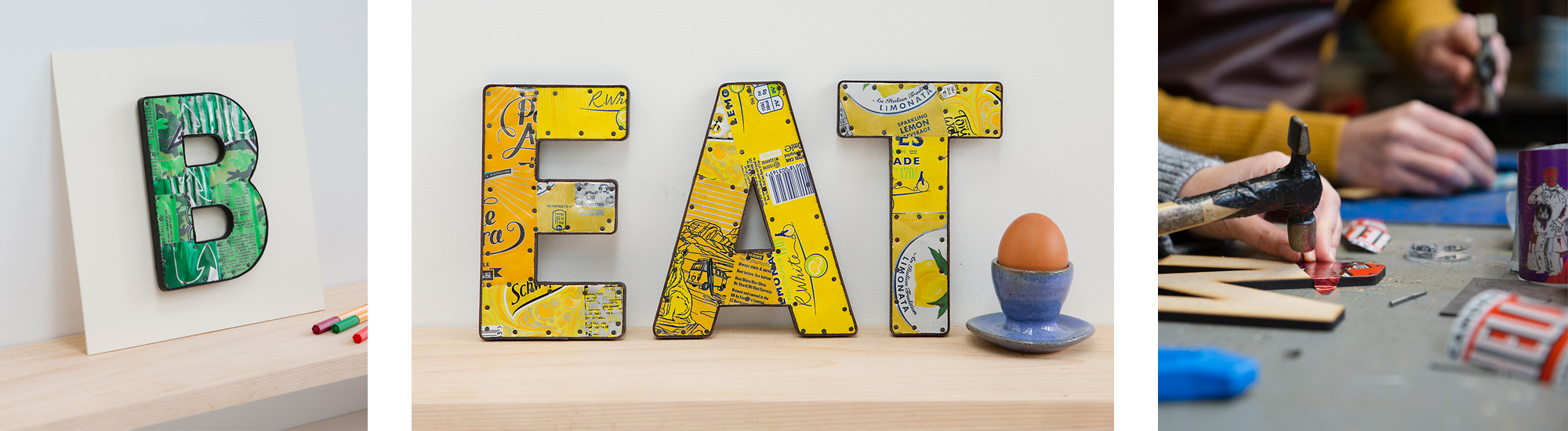 shop recycled tin letters now