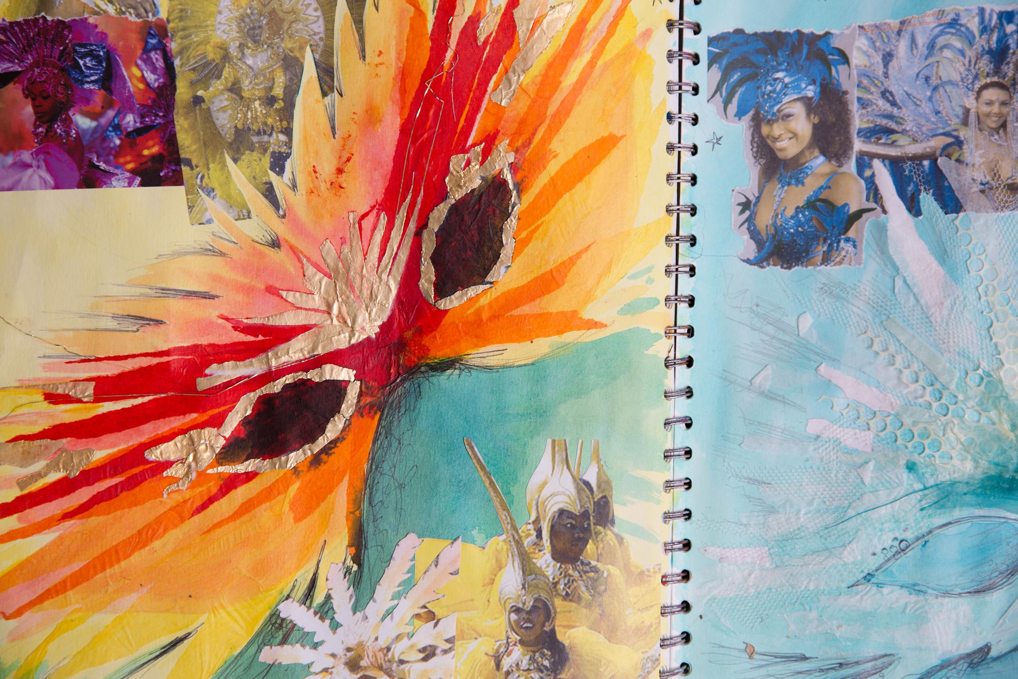 carnival masks  proteanart sketchbook
