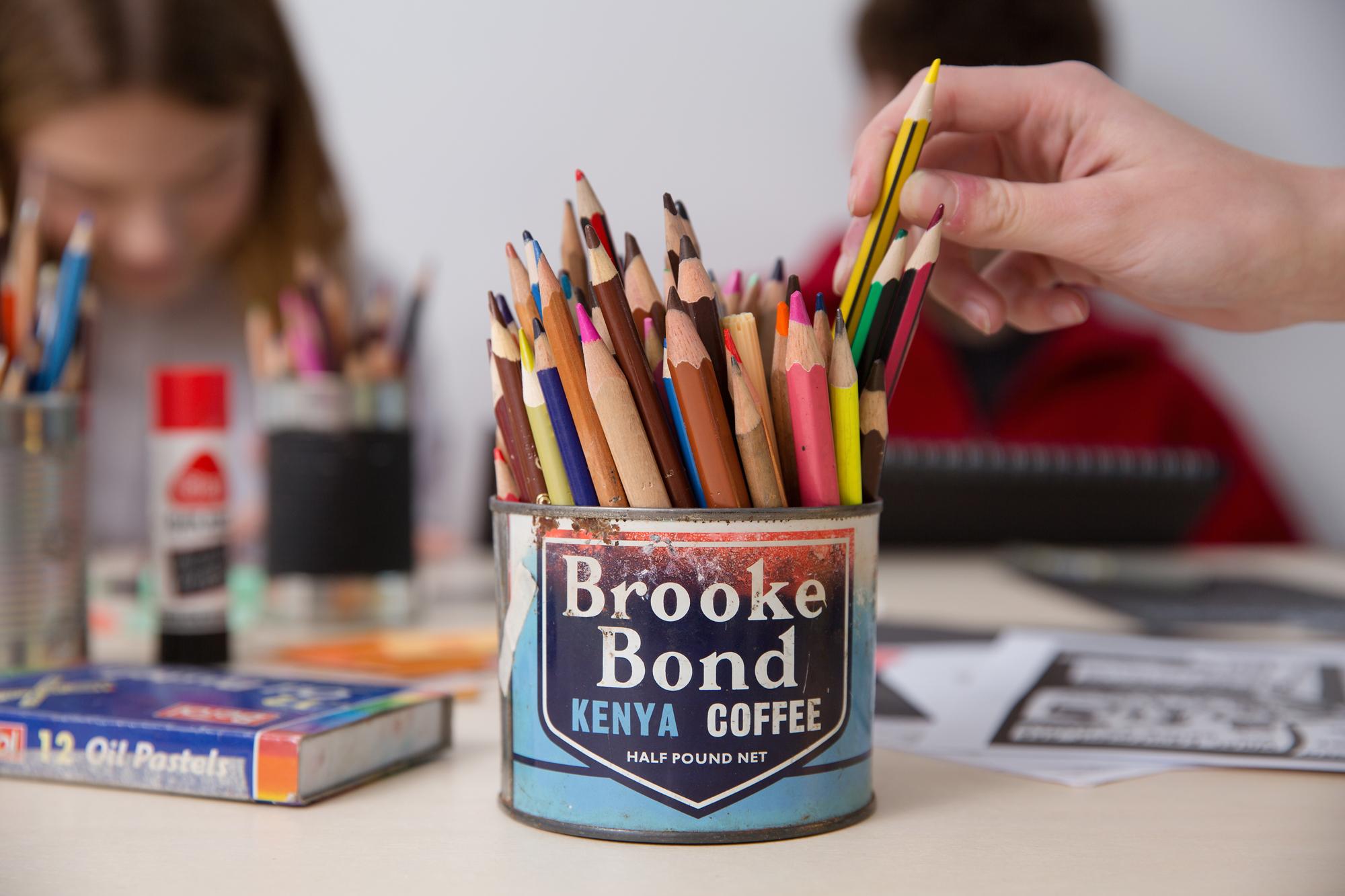 coloured pencils art workshop teenagers lesson