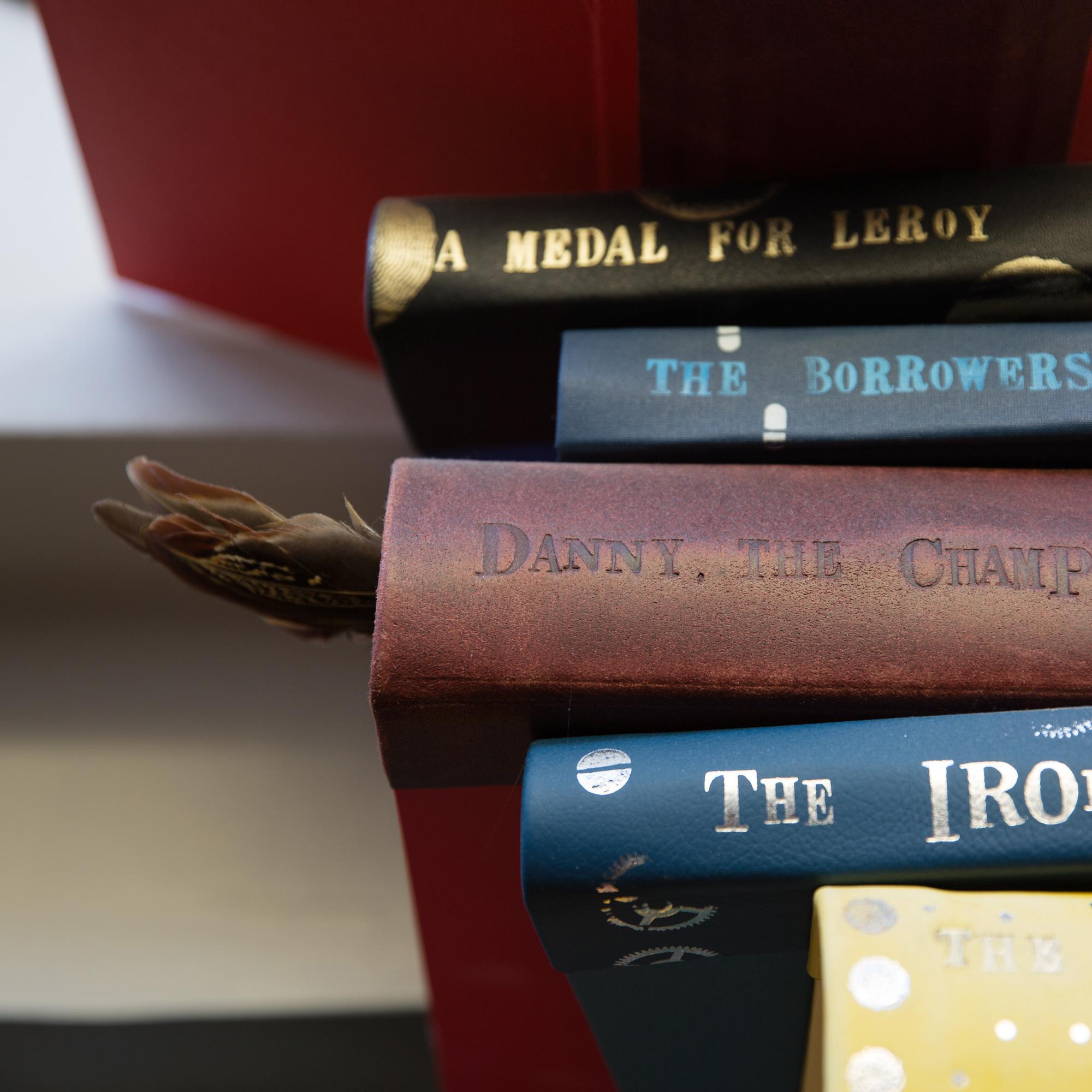 handmade books in art display