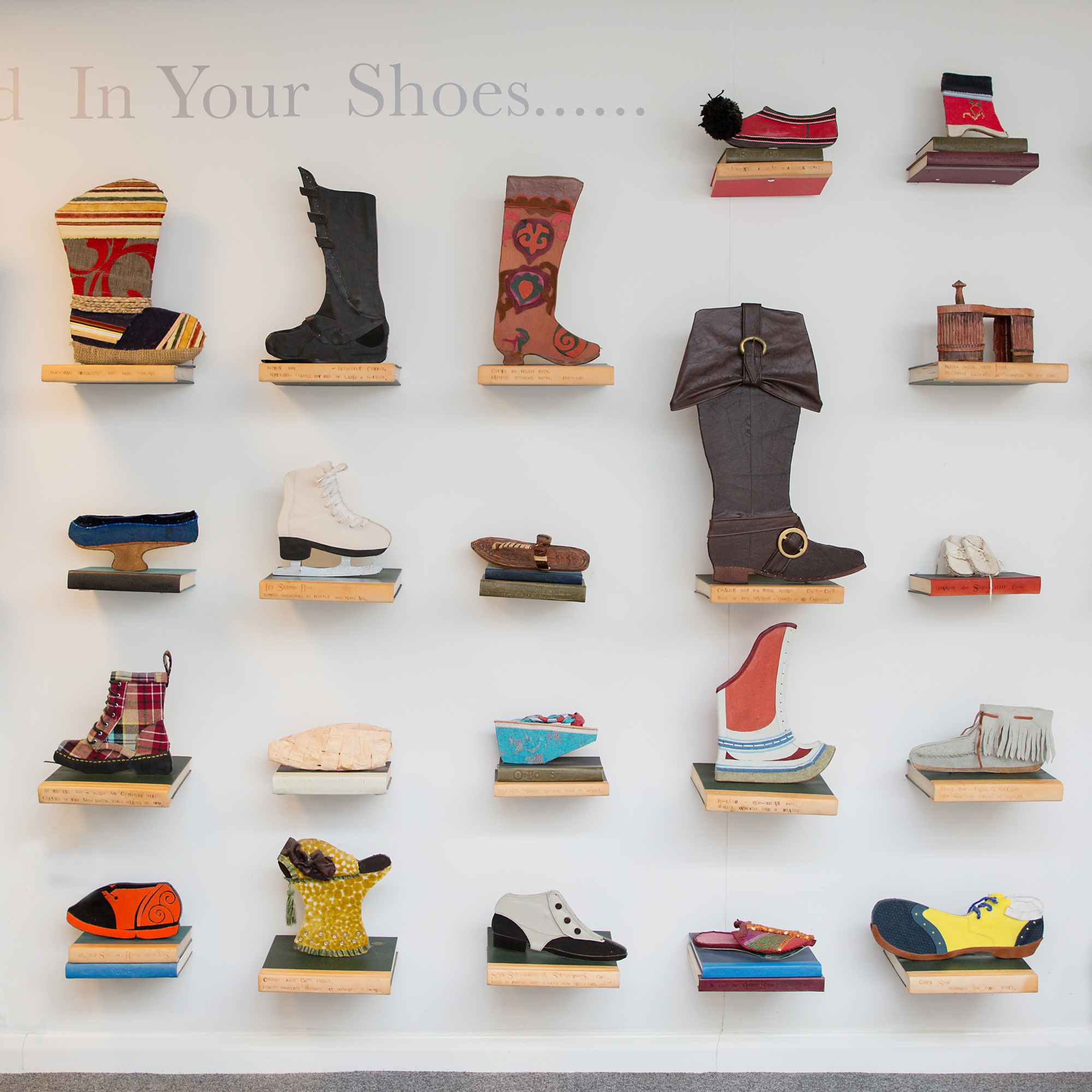 Artistic shoe display