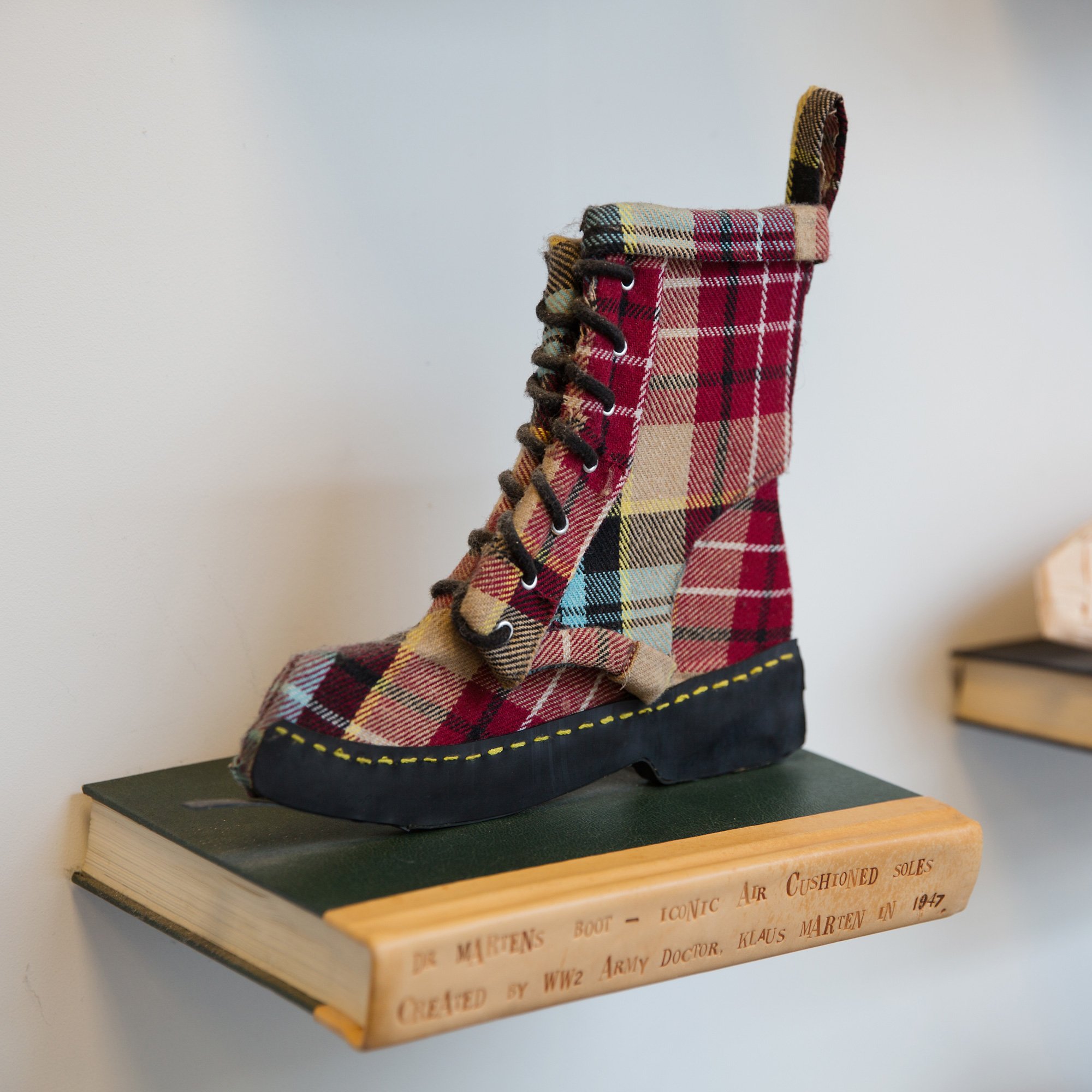 Two dimensional Handmade Doc Martin boot