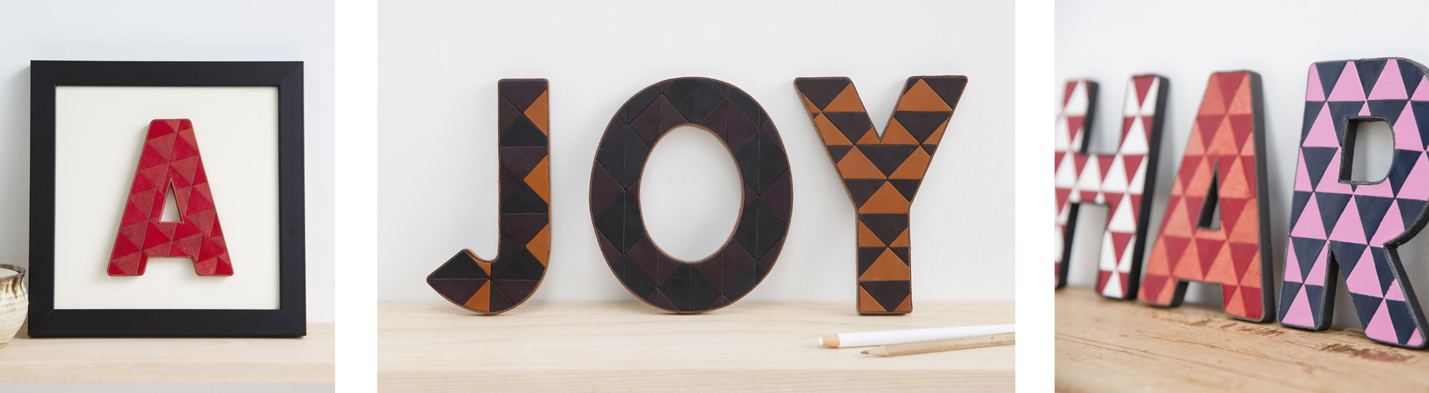 SHOP RECYCLED LEATHER LETTERS NOW