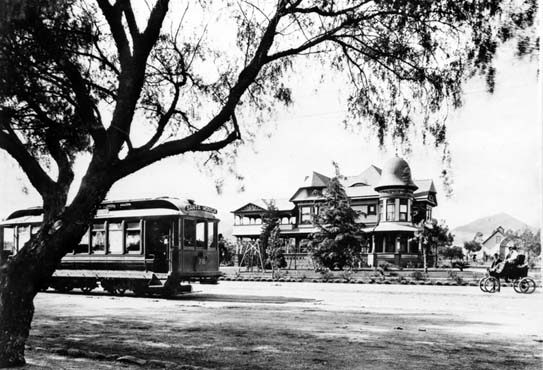 As early as 1902, a trolley system ran from downtown to Santa Monica, stopping at the base of Laurel Canyon.