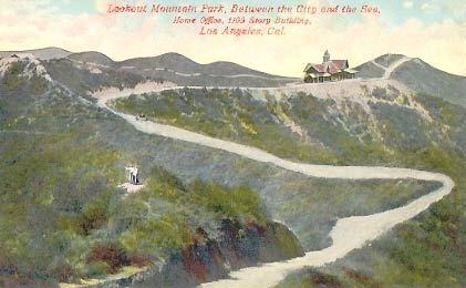 The road to Lookout Mountain in the early 1900's. The Lookout Mountain Inn, which burned down a few years after construction, as well as a short trackless trolley line, was built by Charles Mann as a lure for vacation home buyers. The real estate industry is still reaping the benefits of his creative marketing skills.