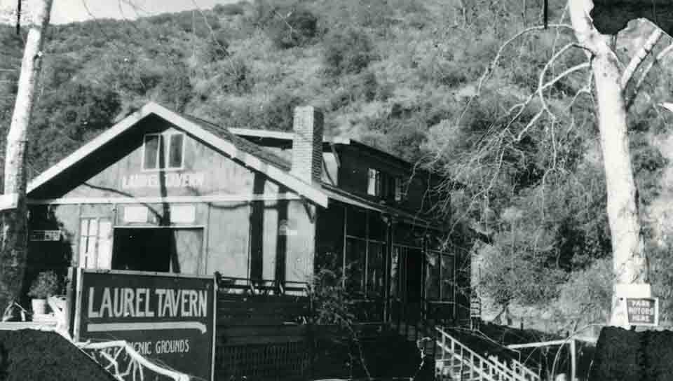Stanley Steamers negotiated the dirt Laurel Canyon Boulevard on the way to the Laurel Tavern, circa 1916. The site of the tavern later became the home of Tom Mix and still later, Frank Zappa.