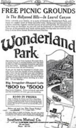 An ad for Wonderland Park published in 1924.