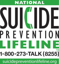 The National Suicide Prevention Lifeline The National Suicide Prevention Lifeline provides 24/7, free and confidential support via phone or chat for people in distress, resources for you or your loved ones, and best practices for professionals. Includes information on finding your local crisis center.   Phone: 1-800-273-TALK (8255)    Website:    http://suicidepreventionlifeline.org