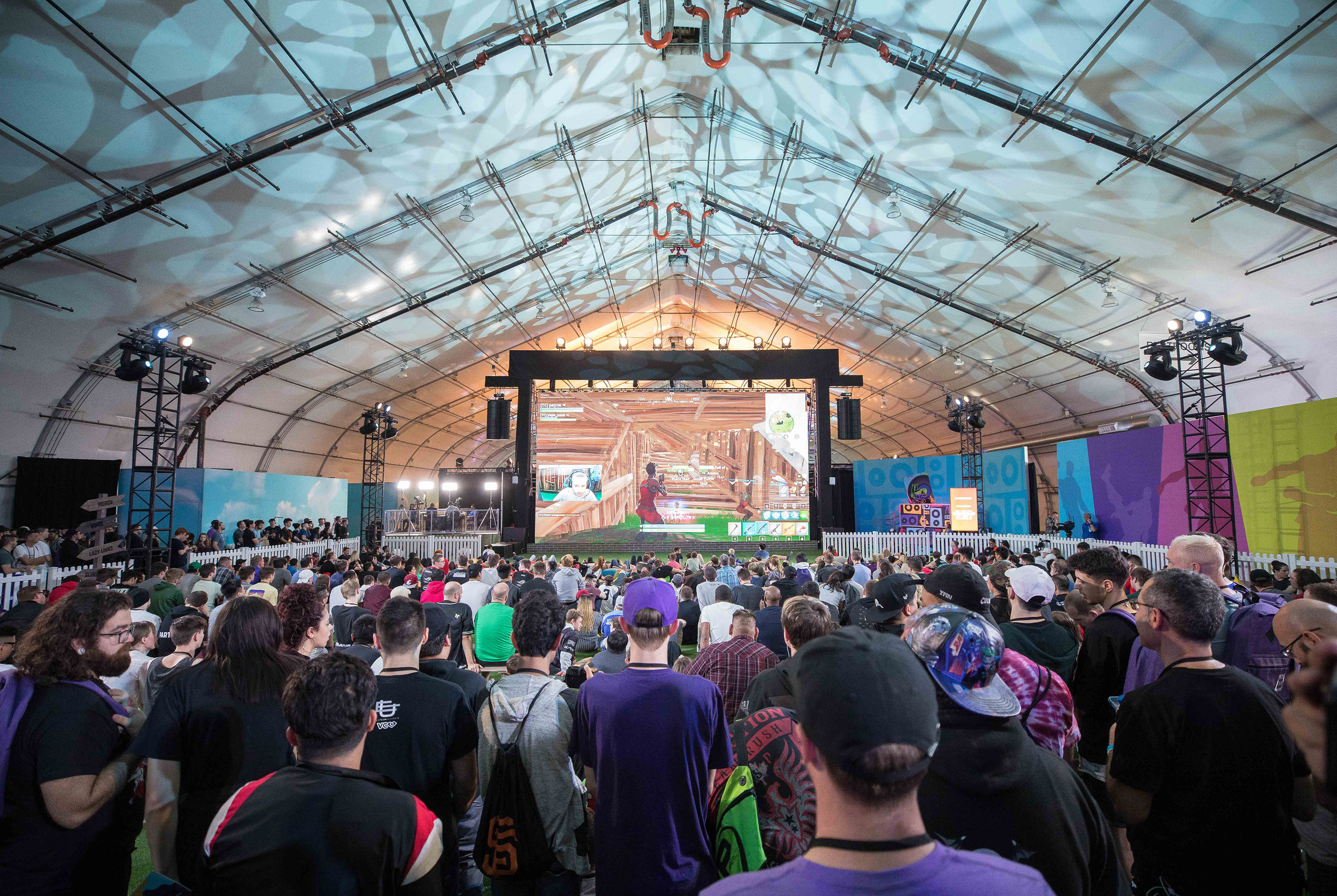 Crowd of fans watching Fortnite competition at TwitchCon, San Jose Convention Center on October 26, 2018 in San Jose, California.  Photo by Hannah Smith / ESPAT Media