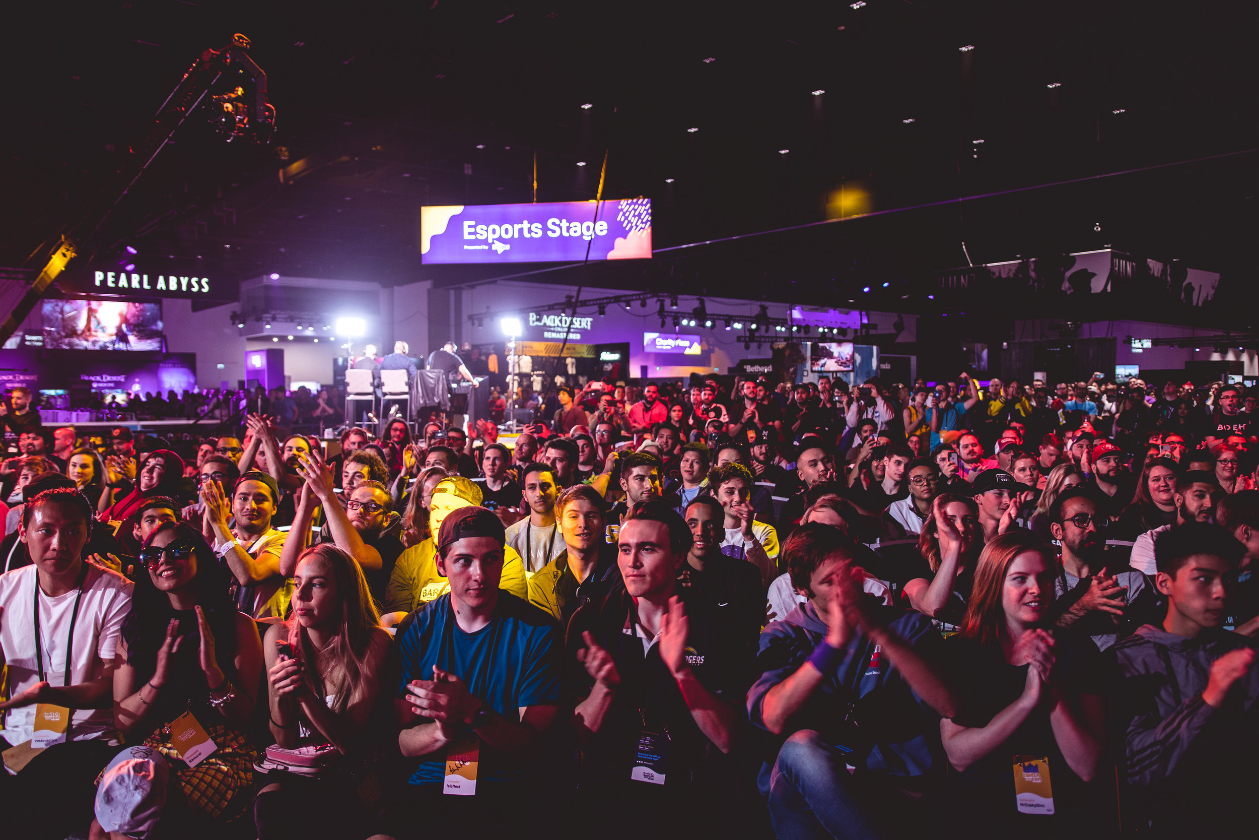 Energized fans enjoying competition at Doritos Bowl 2018 Call of Duty: Blackout Battle Royale tournament, TwitchCon at San Jose Convention Center on October 27, 2018 in San Jose, California.  Photo by: Eric Ananmalay / ESPAT Media