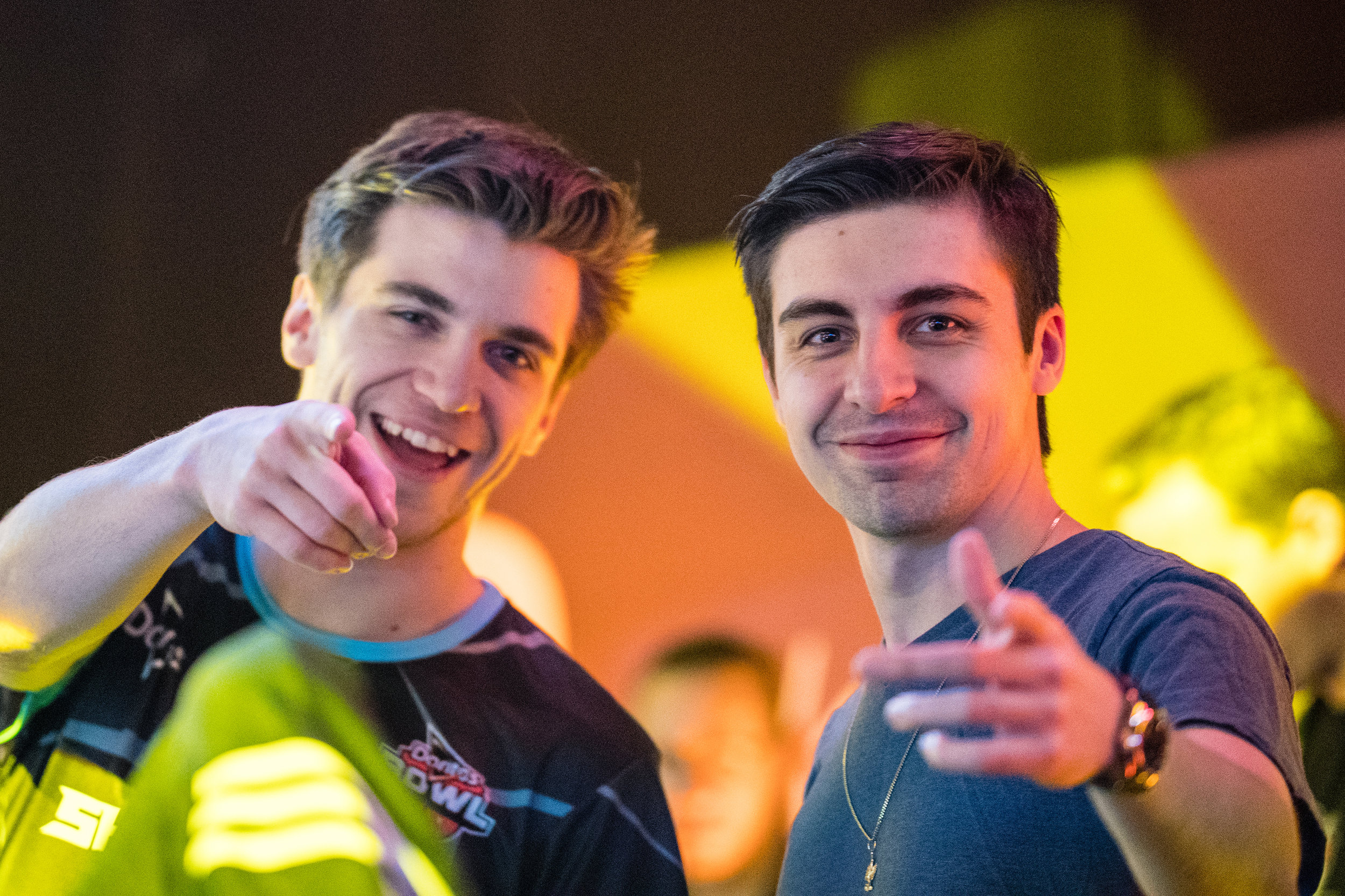 Chad and Shroud having fun competing in the first Doritos Bowl 2018 Call of Duty: Blackout Battle Royale tournament at TwitchCon, San Jose Convention Center on October 27, 2018 in San Jose, California.  Photo by Eric_Ananmalay / ESPAT Media